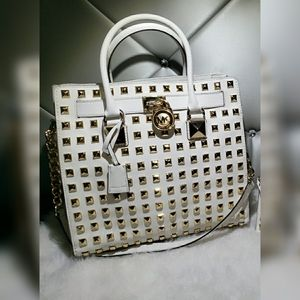 Michael Kors White Studded Hamilton Set.